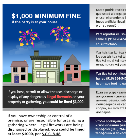 Do not use illegal fireworks