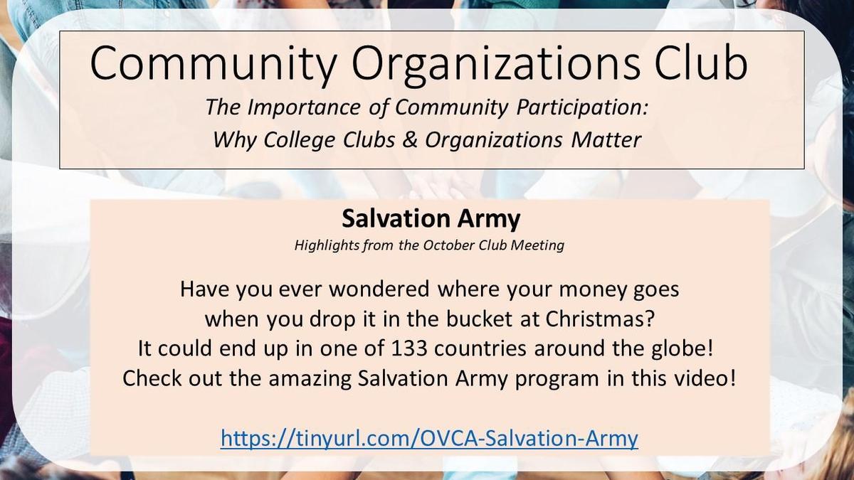 graphic - Salvation Army presentation
