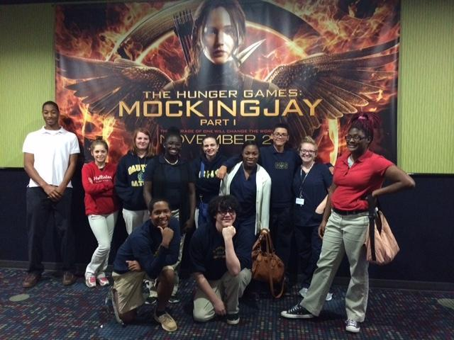 Book club Outing to the movies to see MockingJay