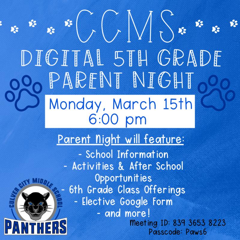 5th Grade Parent Night- Recordings! Thumbnail Image