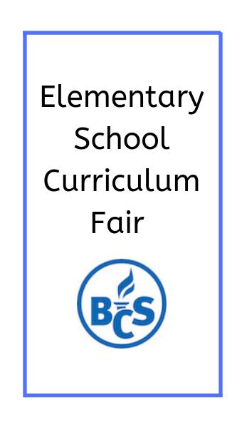 curriculum fair poster