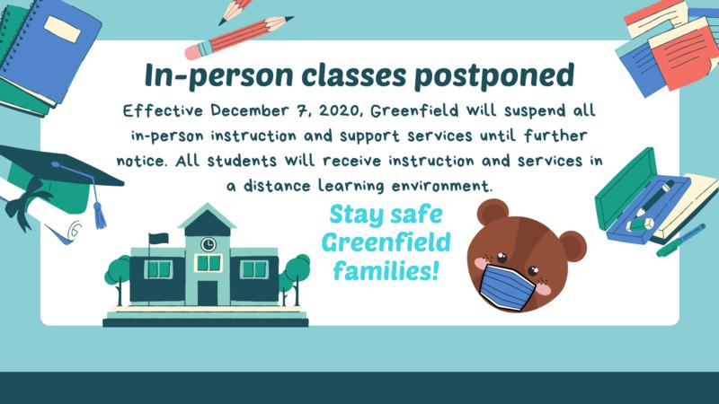In-Person Classes Postponed // Clases Presenciales Pospuestas Thumbnail Image
