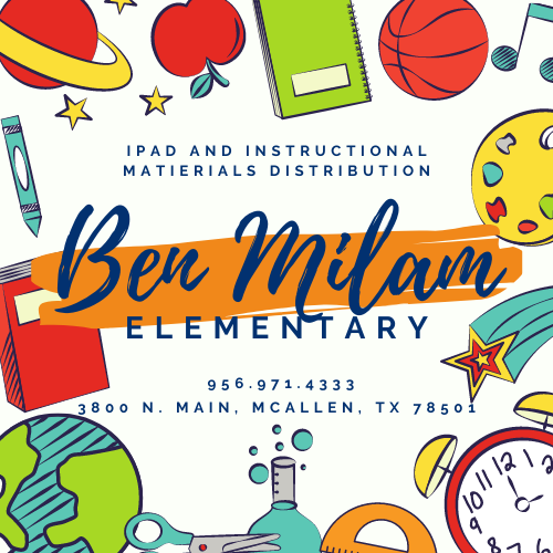 Ben Milam Elementary iPad and Instructional Materials Distribution