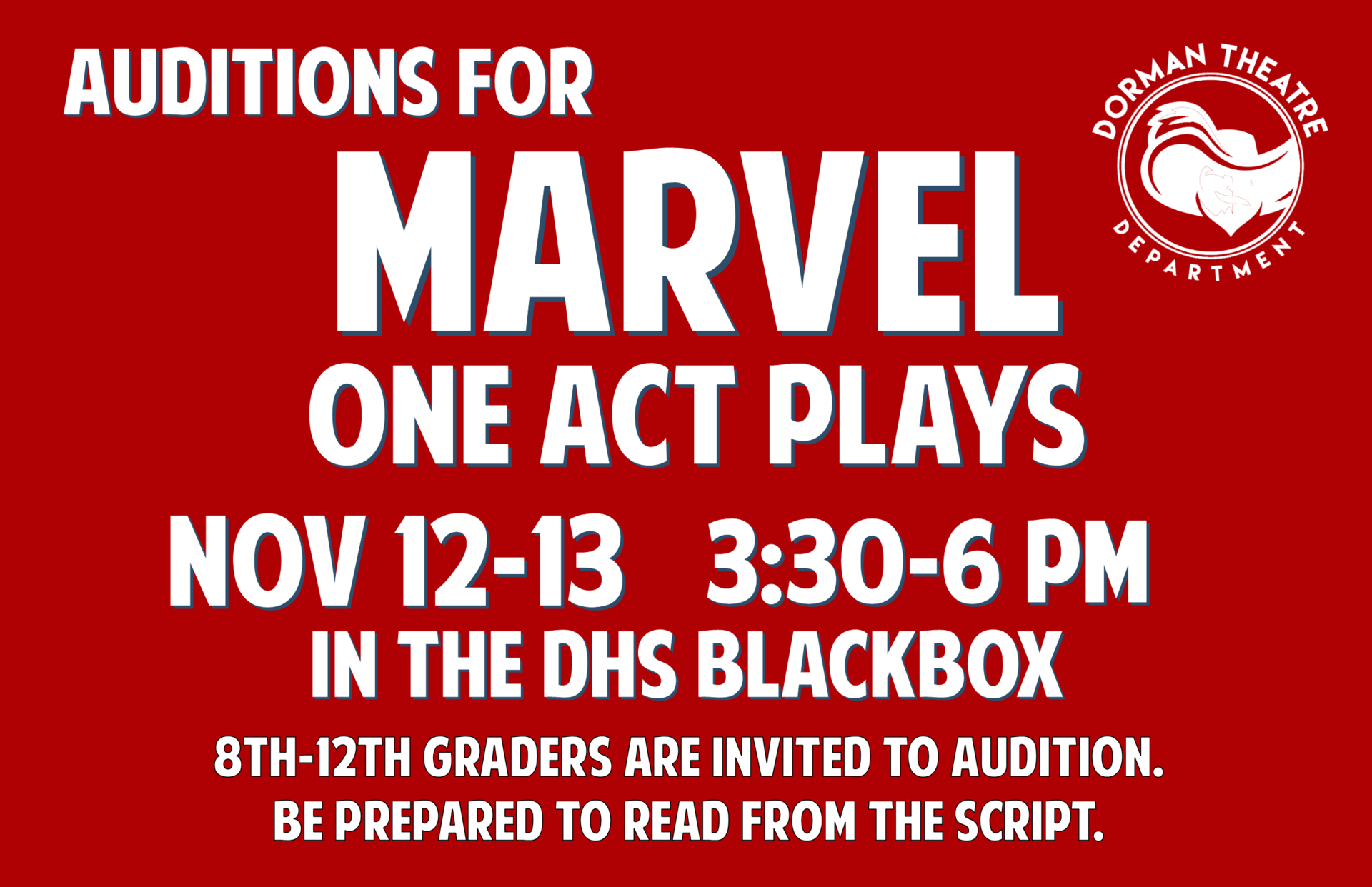 Marvel auditions