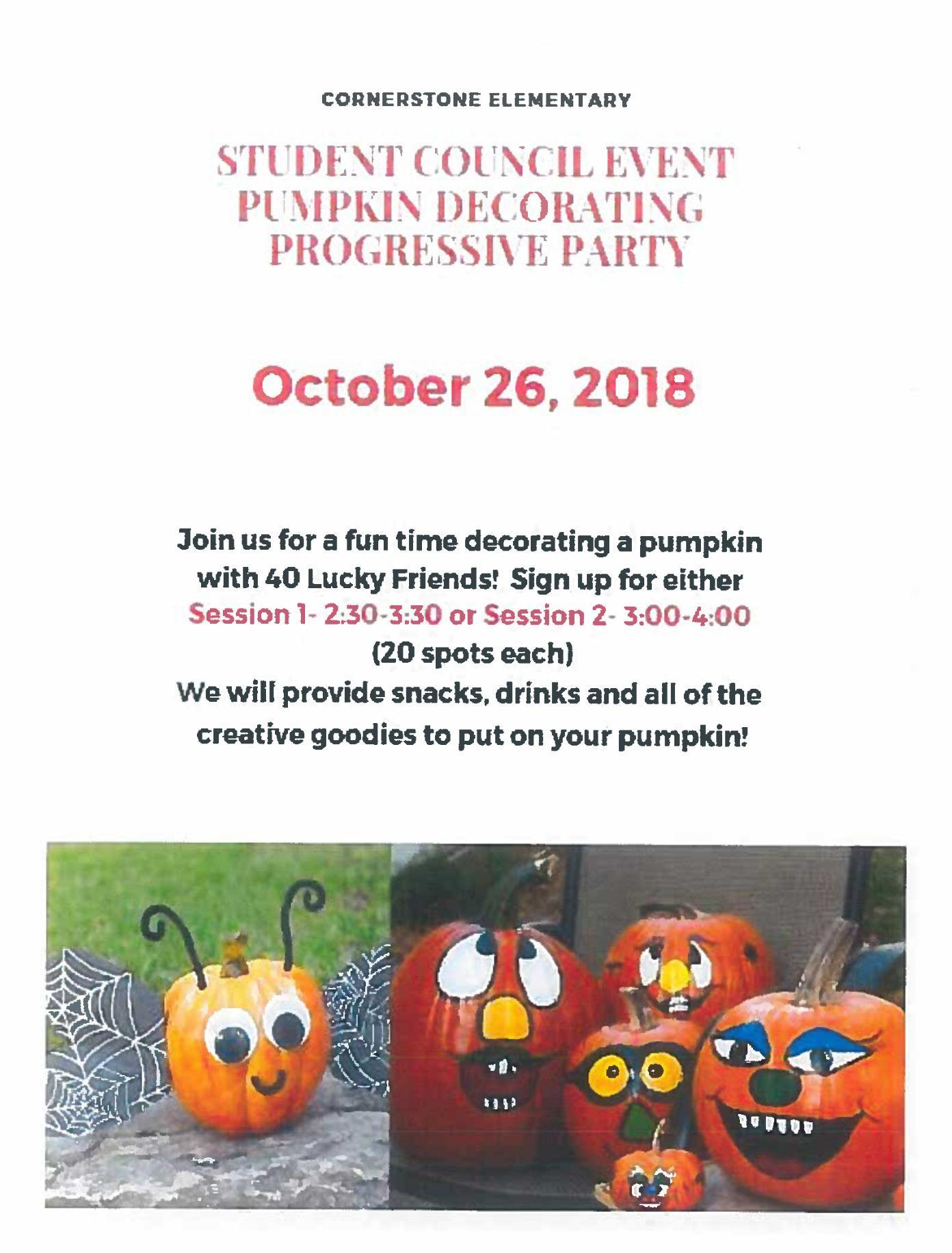 Pumpkin Decorating Party Flyer
