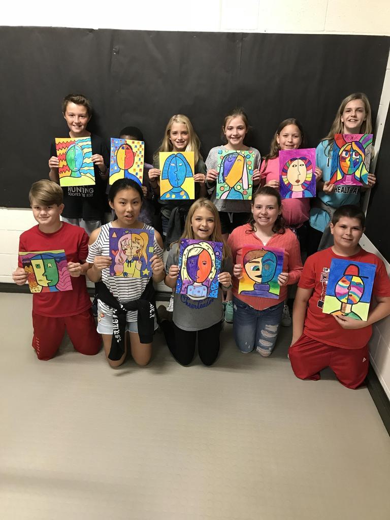 6th Grade Art class