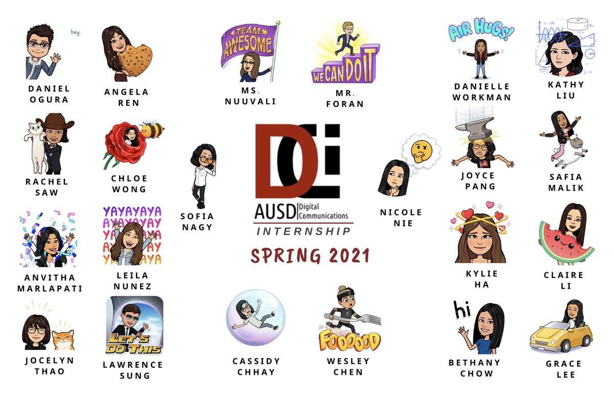 Spring 2021 DCI Bitmoji Roster
