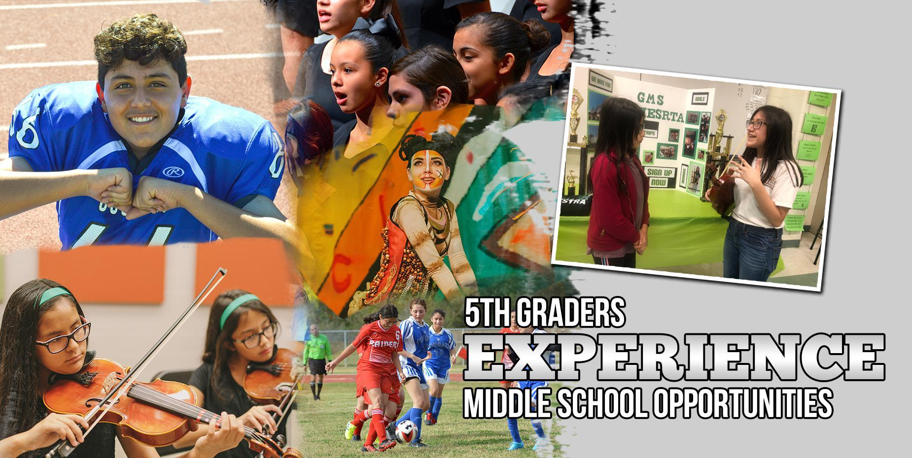 5th graders experience middle school opportunities