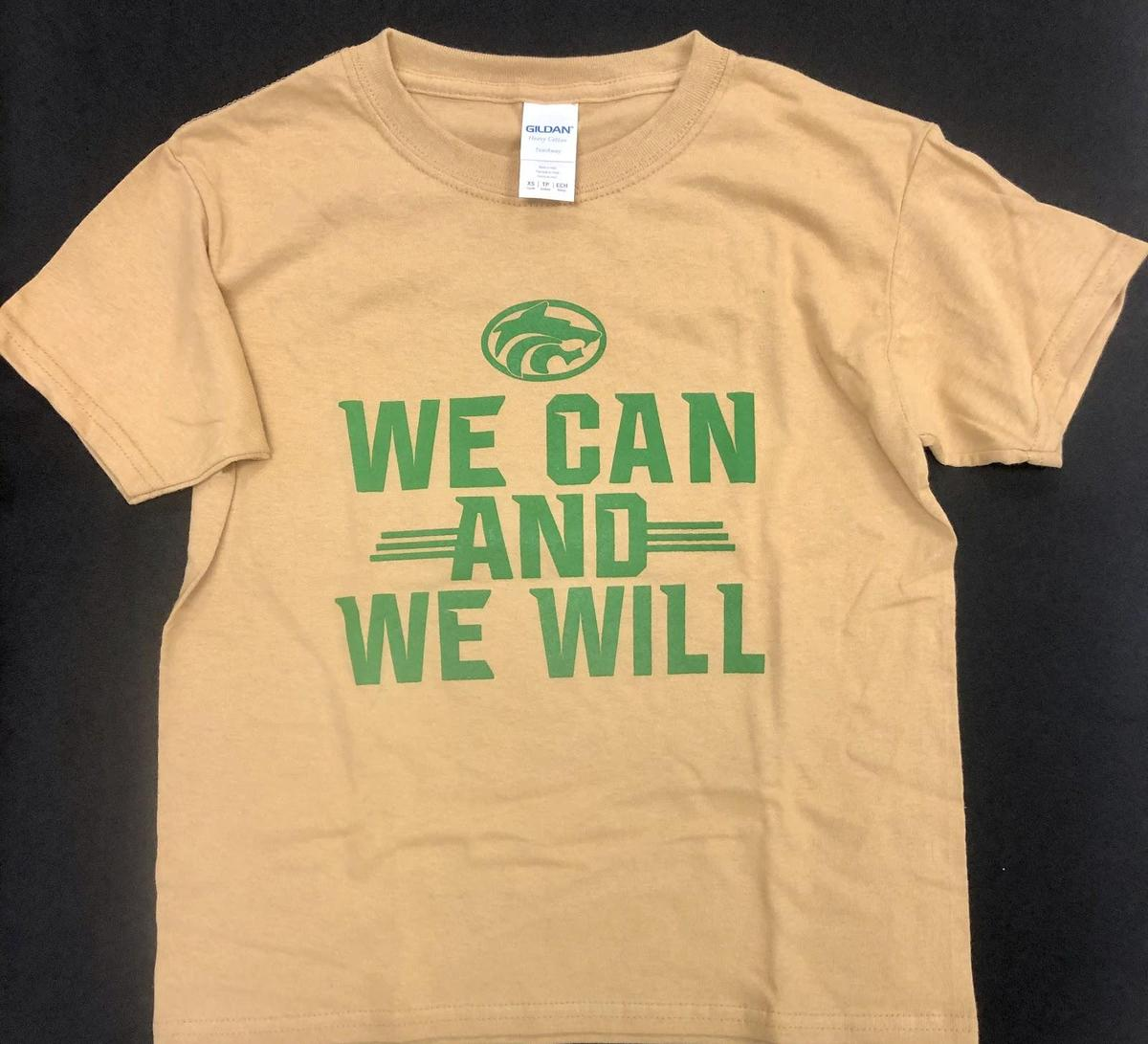 "Gold ""We Can and We Will"" Cotton Shirt"