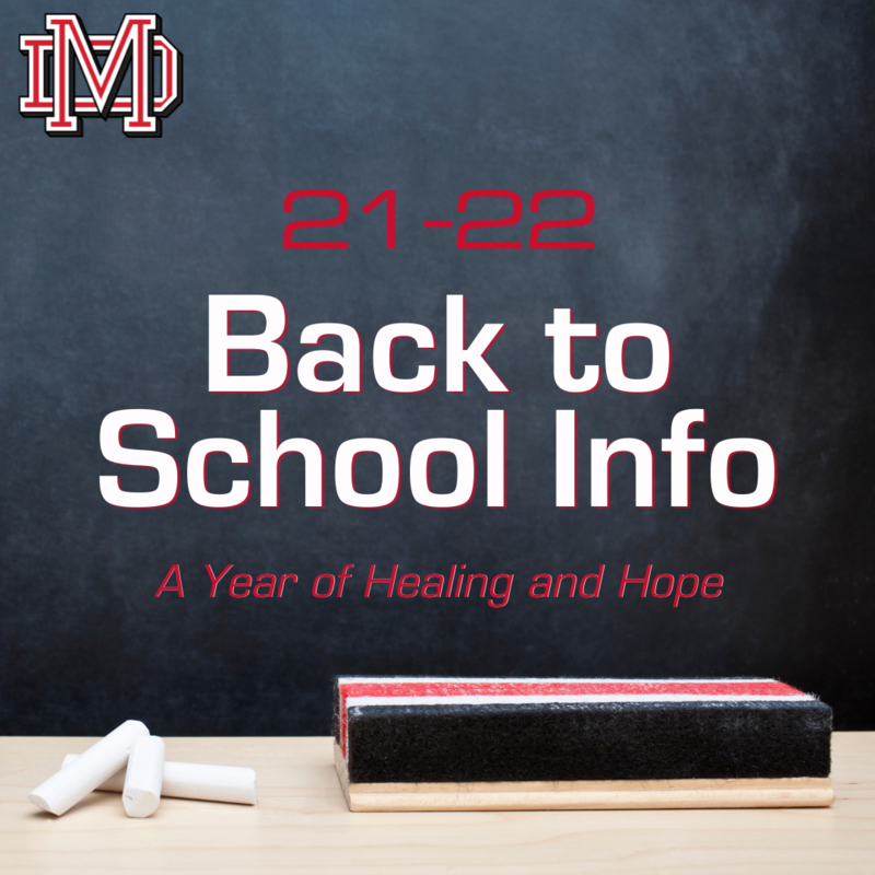 21-22 Back to School Information Featured Photo