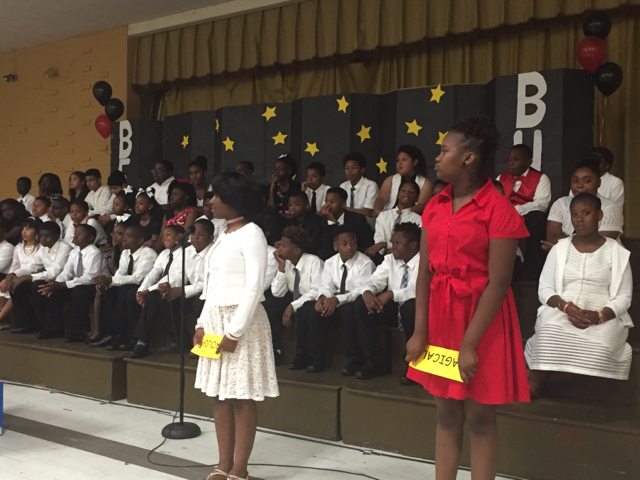 Photo of the Baker Heights and Bakerfield 5th Grade Graduation Class