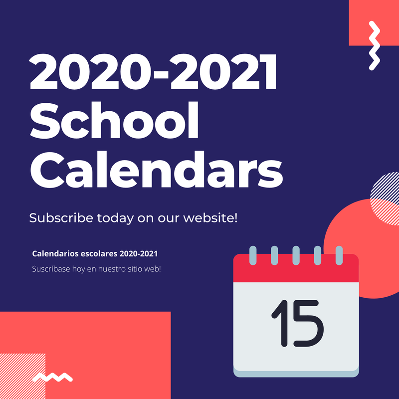 2020-2021 School Calendars Featured Photo