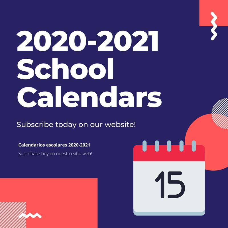 2020-2021 School Calendars Featured Photo