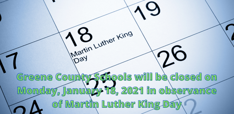 GCS Closed for MLK Day on Monday, Jan. 18, 2021