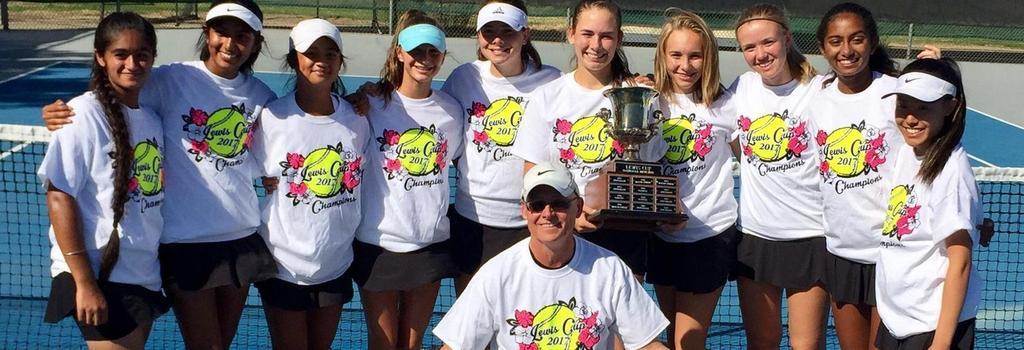 Varsity Girls Tennis team wins Lewis Cup Championship
