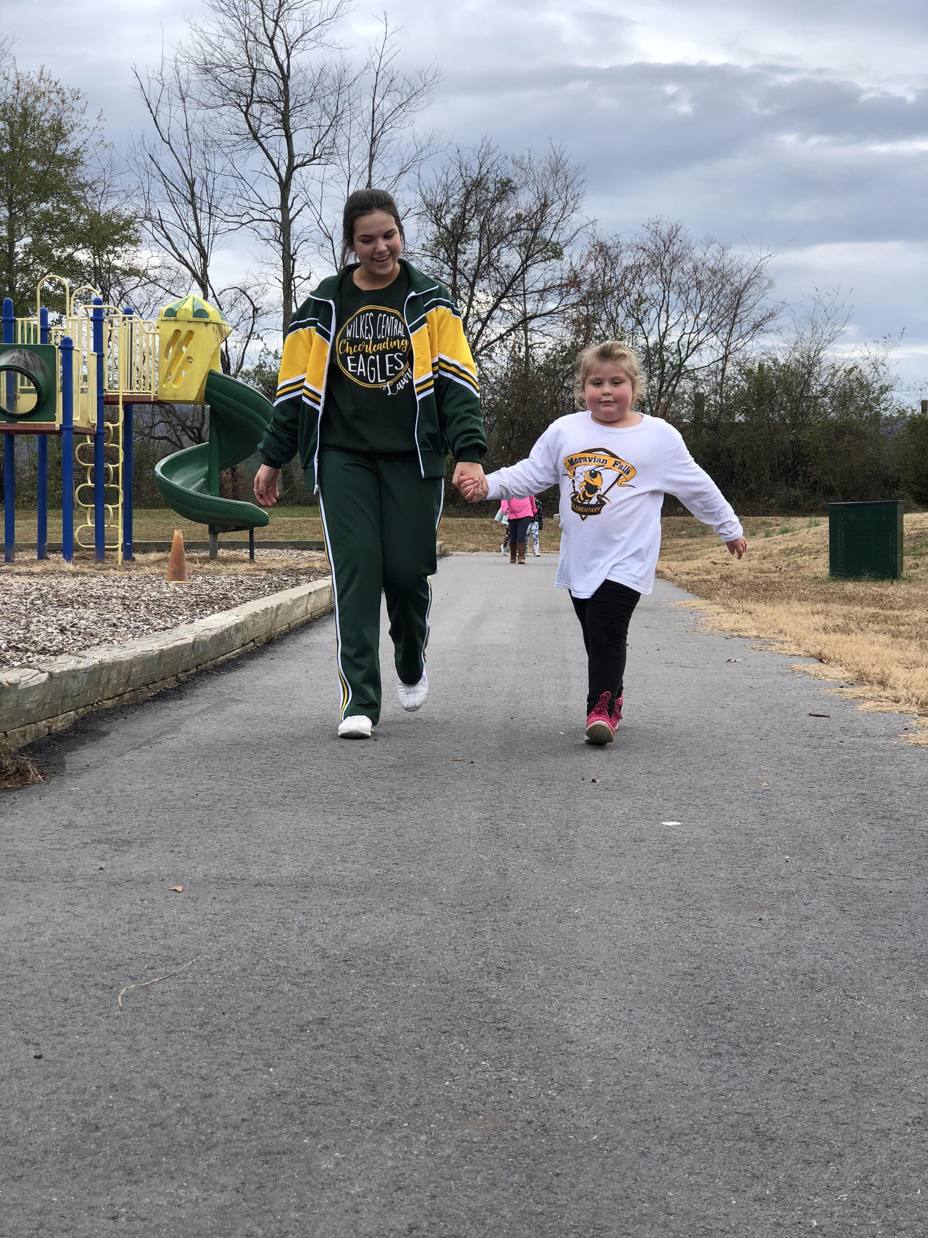 Students participate in the MFES Yellow Jack Walk