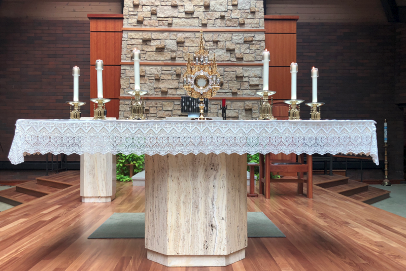 New Altar Candles & Refurbished Monstrance Thumbnail Image