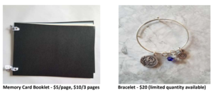 image of memory book and bracelet