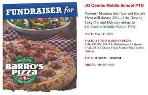 Barros Pizza Night Fundraiser