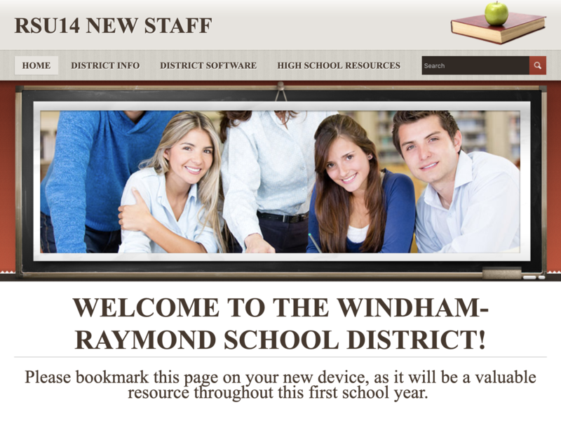 New Staff Website Homepage