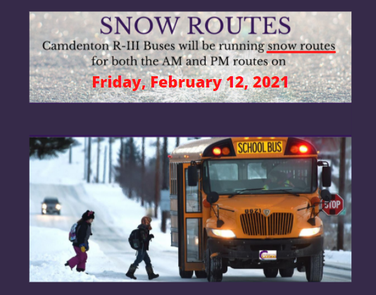Snow Routes - Friday, February 12, 2021 Featured Photo