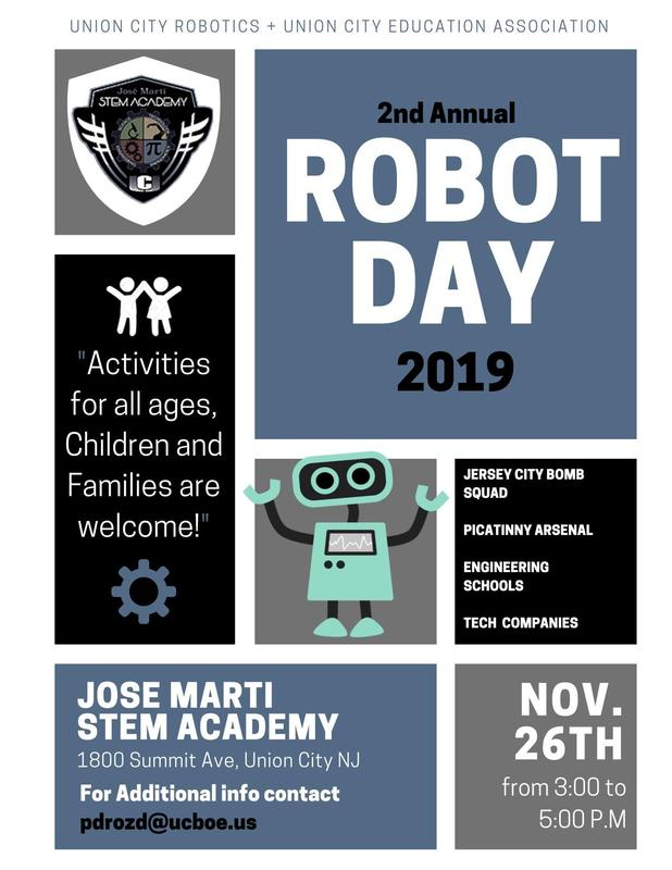robot day flyer
