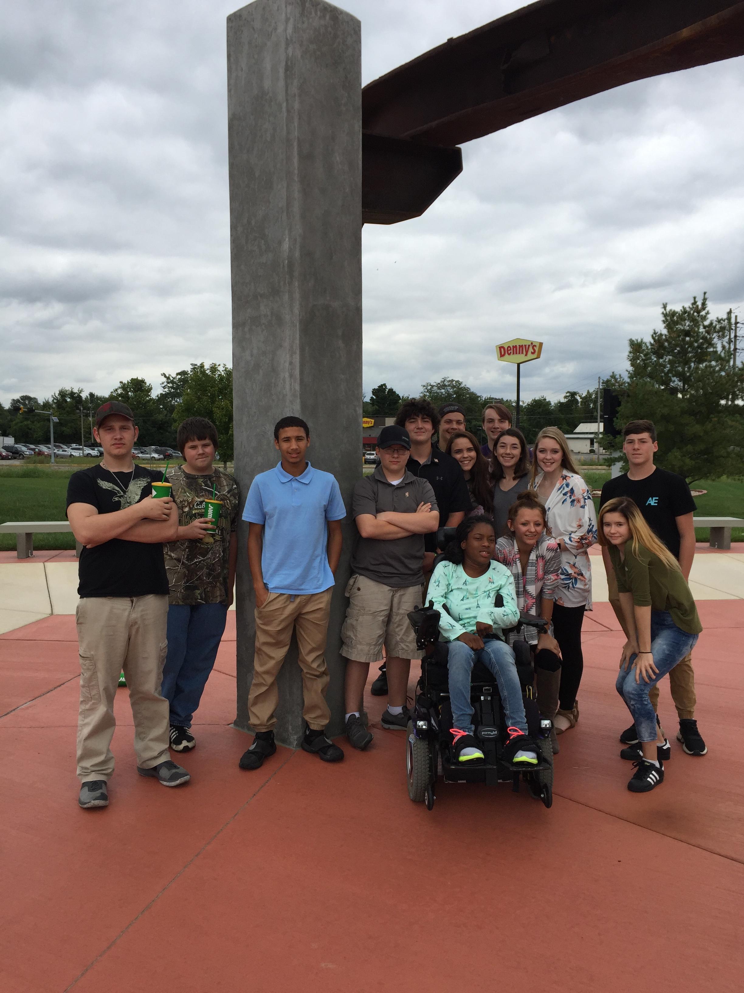 Freshman Visit 9/11 Memorial in Belleville