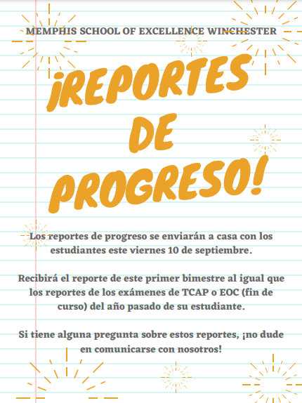 1Q Progress Report Spanish