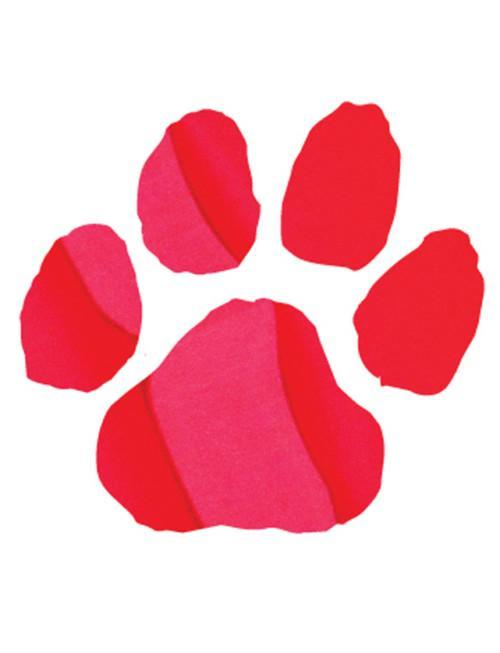 Game day face red panther paw tattoo