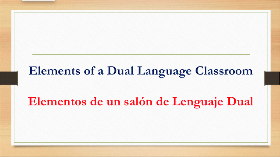 Dual language slide 3