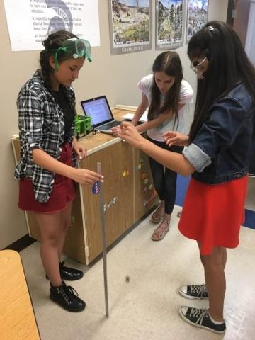 Honors Science students conduct experiments.