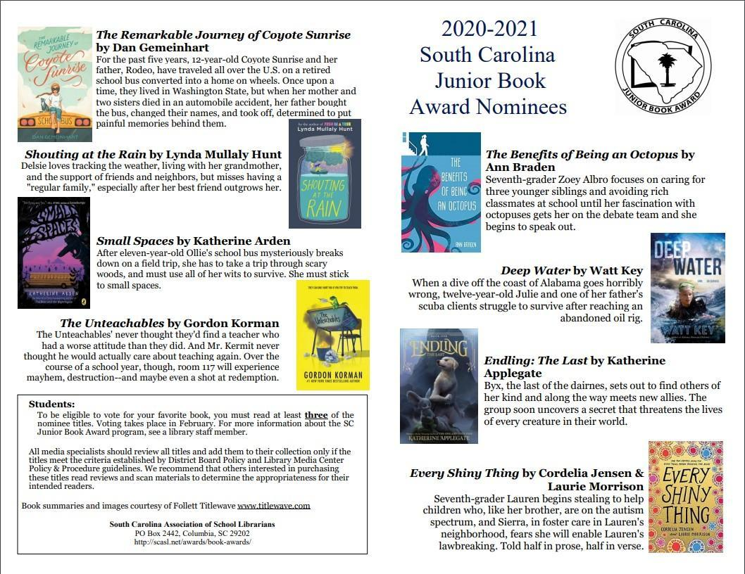 SCASL nominees