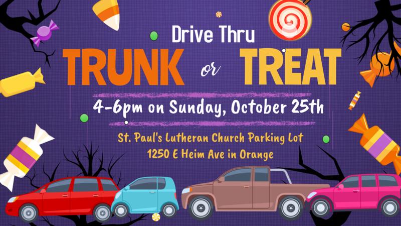 Drive Thru Trunk or Treat Featured Photo