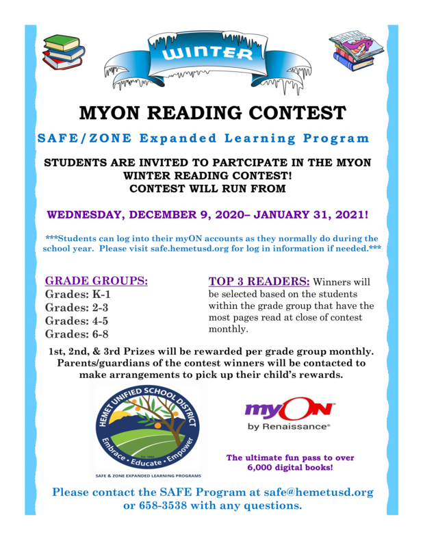 MyOn Reading Contest