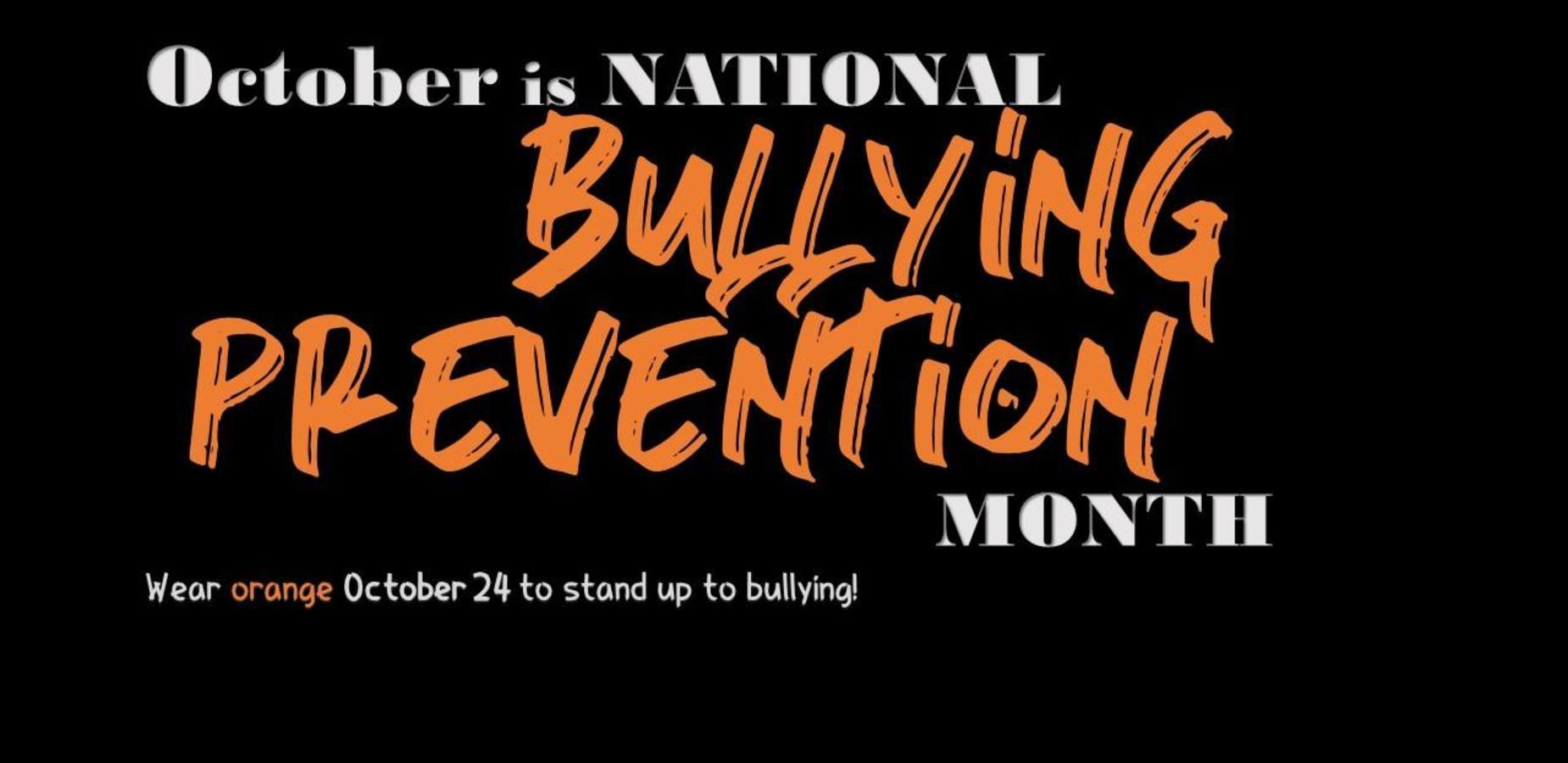Bullying Prevention Week October 2018