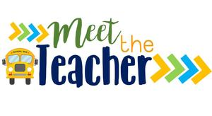 School bus with Header of Meet the Teacher