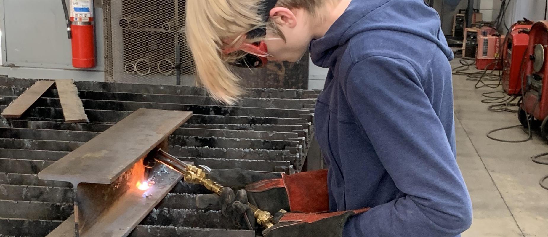 Welding in metals class