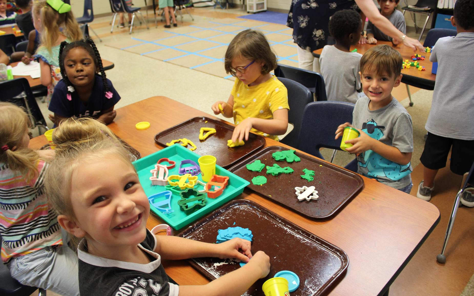 Playdough in Kingergarten