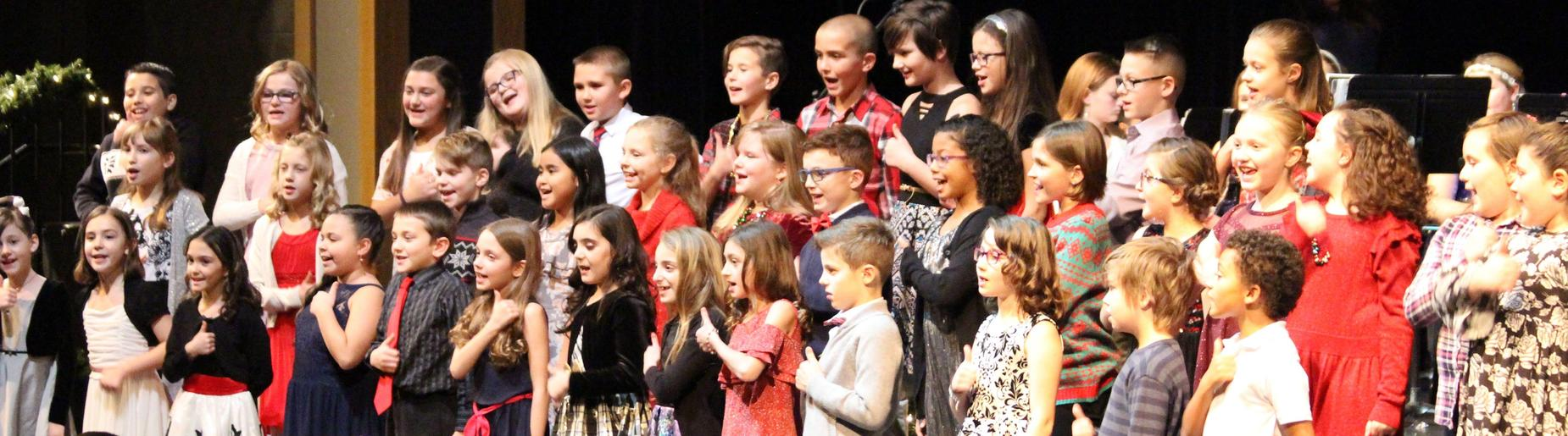 Richard Mann Elementary 4th grade chorus sings a holiday favorite at the winter concert.