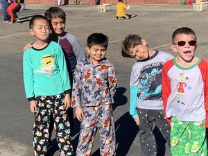 boys playing in pajamas