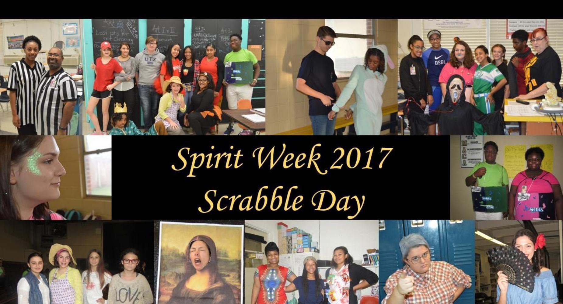 Spirit Week - Scrabble Day