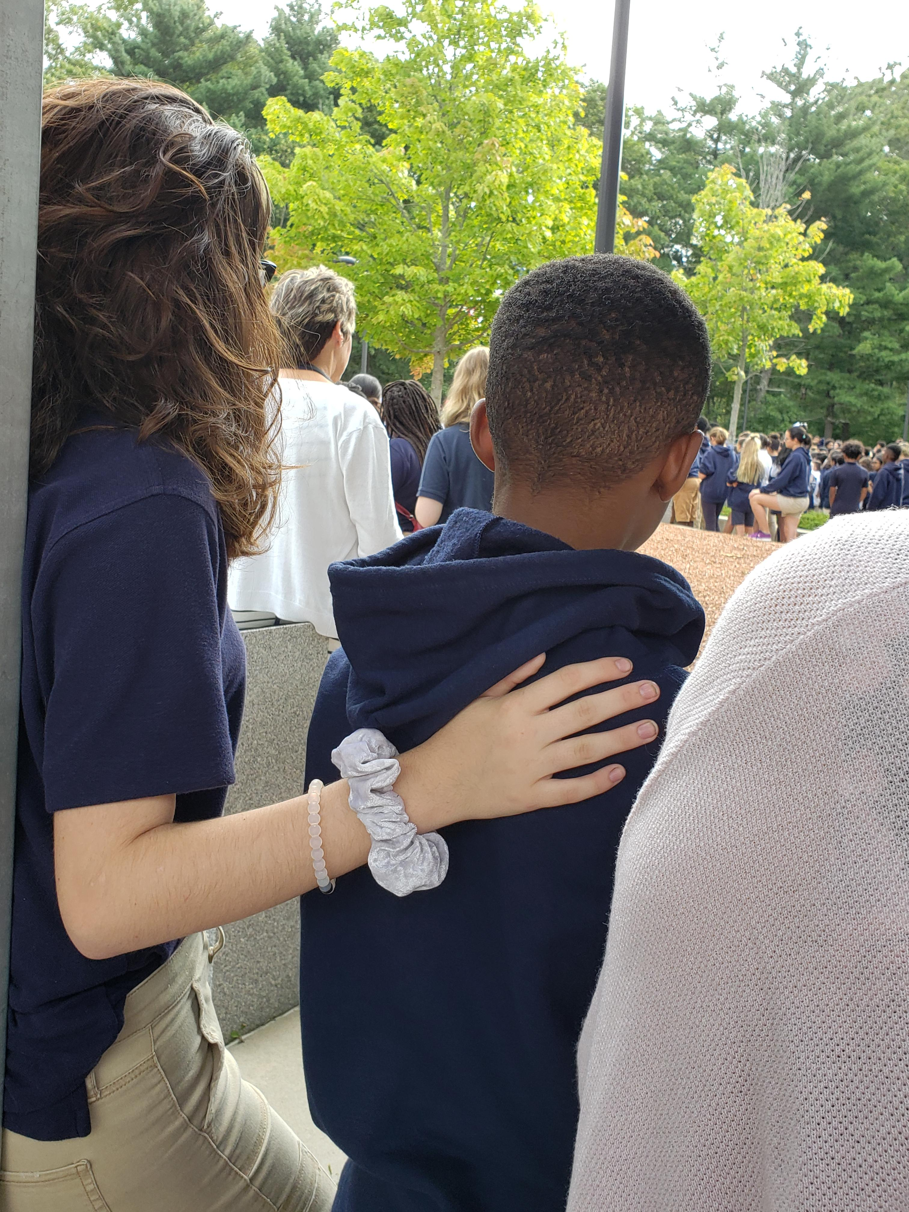 students at the 911 ceremony