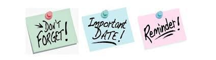 End of the Year Important Dates! Featured Photo