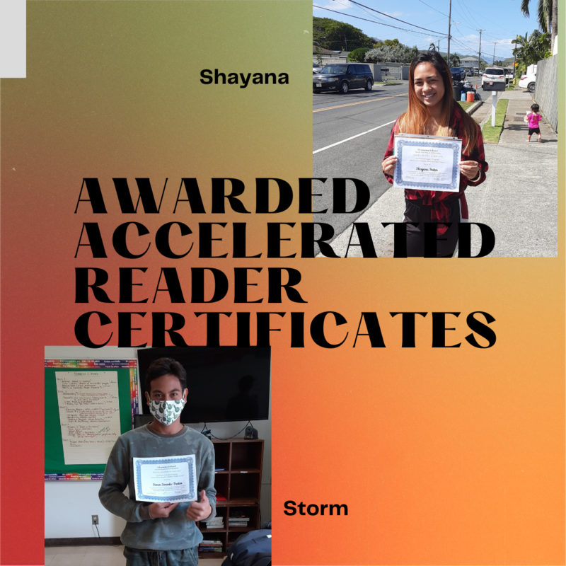 Storm and Shayana with AR Certificate