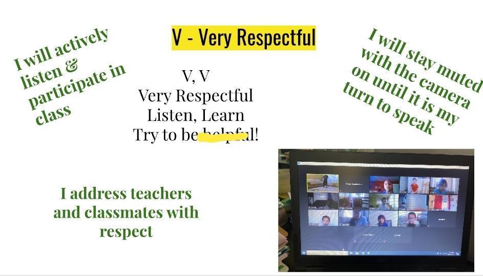 V = VERY RESPECTFUL
