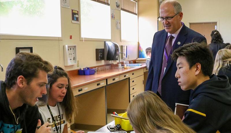 Asst. U.S. Education Secretary visits St. Pius X High School Featured Photo