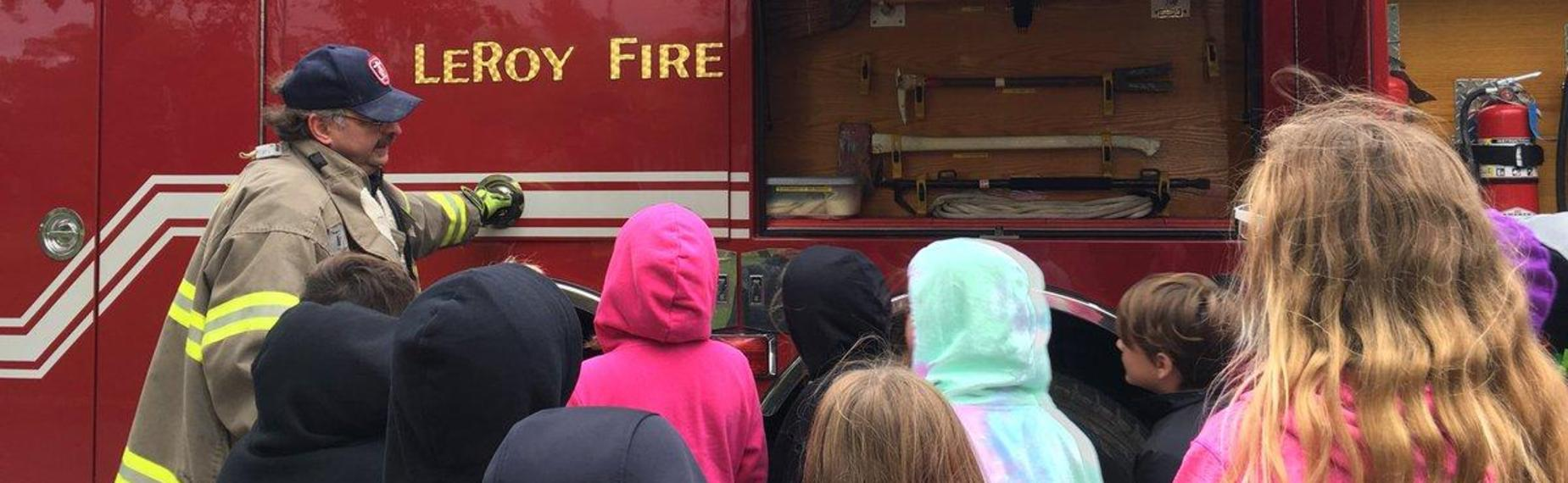 Fire Prevention Day with Elementary Students