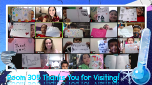 Room 305 zoom class thank you notes