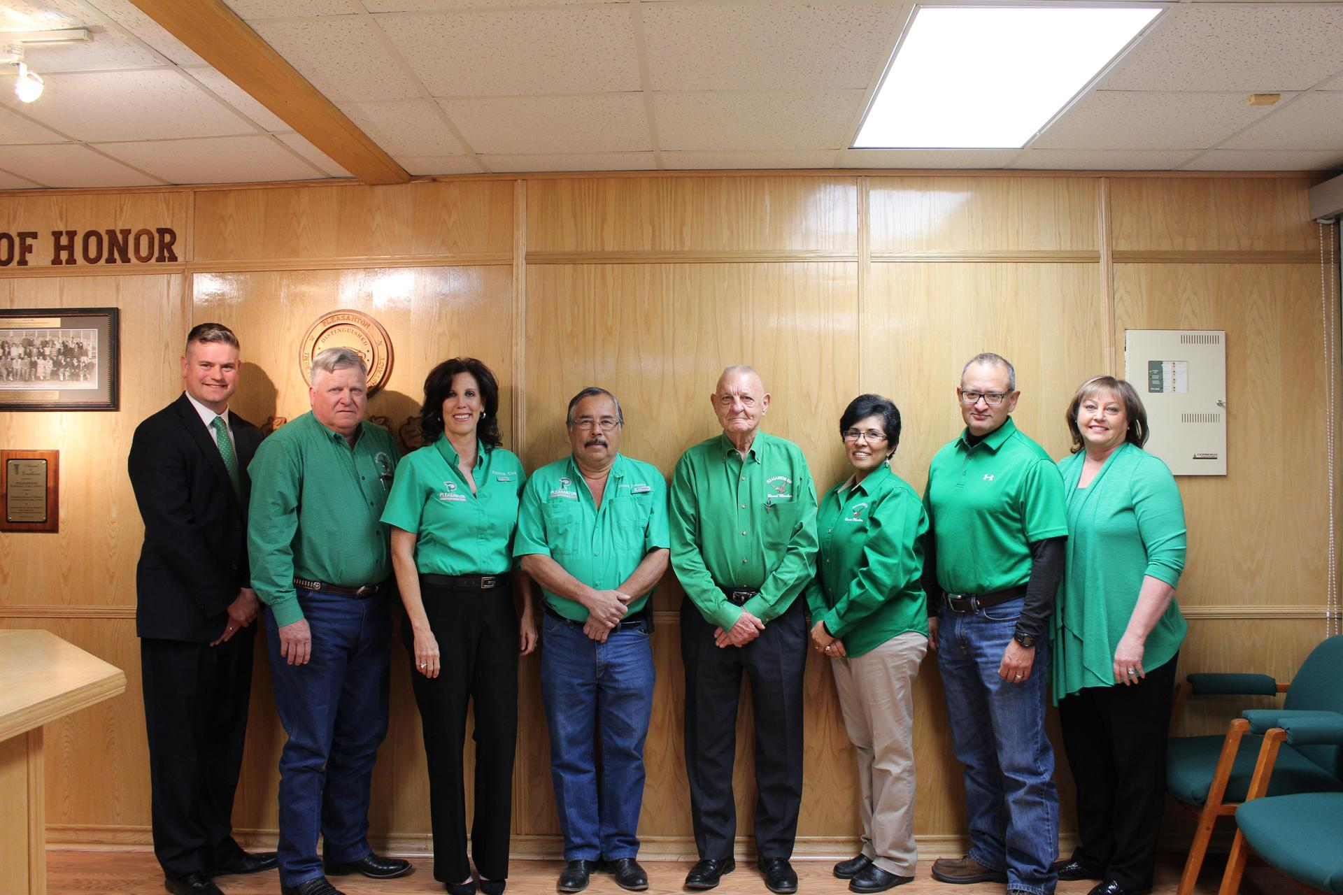 Dr. Mann with Board Members
