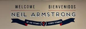 Welcome sign in the NAMS entry way